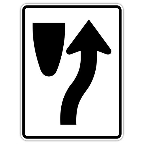 R4-7 Keep Right Symbol Sign