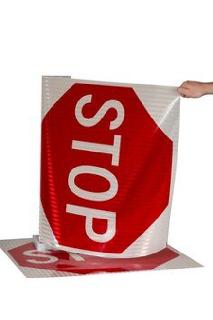 3M stop sign sticker