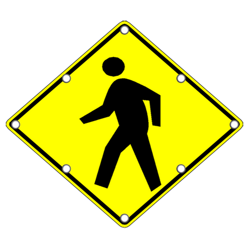 Solar LED Pedestrian Crossing Sign