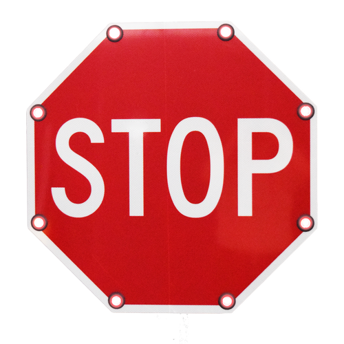 Solar Flashing LED Stop Sign