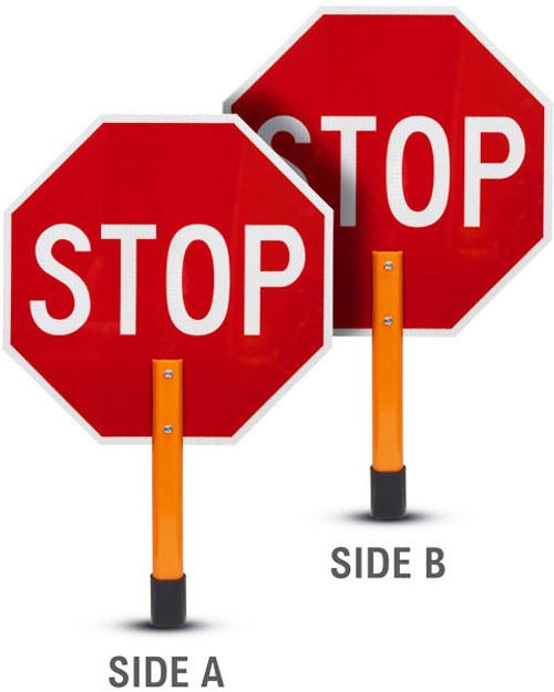 Hand Held STOP/STOP Sign