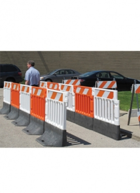 STRONG WALL ADA SAFETY BARRICADE FOR PEDESTRIANS ORANGE & BLACK