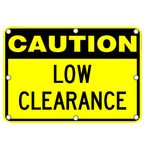 Caution Low Clearance Flashing LED Sign