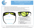 LG-001 YAG Laser Safety Glasses Data Sheet - Email or Printable Brochure