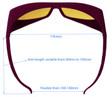 LG-003 IR Laser Safety Glasses Dimensions