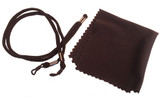 Laser eyewear cleaning cloth & head strap - included