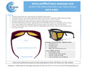 LG-002 Laser safety Glasses Printable or Email Brochure