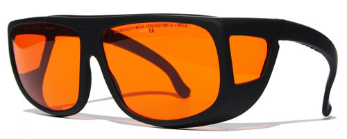 532 nm OD 7 Laser Safety Glasses - Fitover - LG-005