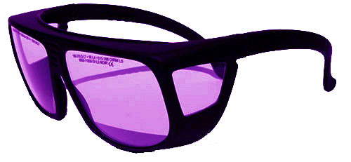 LG-013 Universal Fit Dye Laser Safety Glasses 585nm