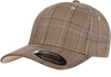 6196 Flexfit Glen Check Cap - Brown / Khaki