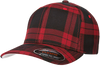 flexfit-tartan-plaid-cap-Black/Red