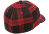 flexfit-tartan-plaid-cap-Black/Red 1