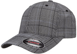 flexfit-glen-check-cap-black-white