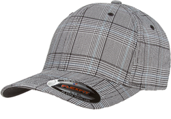 6196 Flexfit Glen Check Cap - Black / White