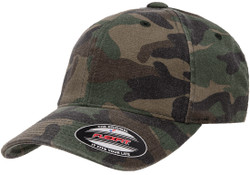 Flexfit Garment Washed Camo Cap - Green Camo