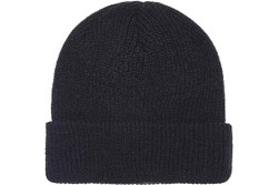 1545K Ribbed Cuffed Knit Beanie - Black
