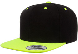 6089MT Yupoong Hat Snapback Two-Tone Pro-Style Wool Cap