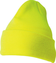 1535TH Blank Flexfit Beanie Thinsulate Cuffed Cap - Safety Yellow