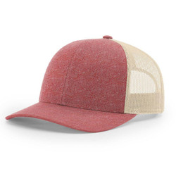 115CH Richardson Cap Low Pro Trucker Red Heather/Birch