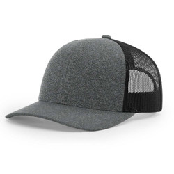 115CH Richardson Cap Low Pro Trucker- Black Heather/Black