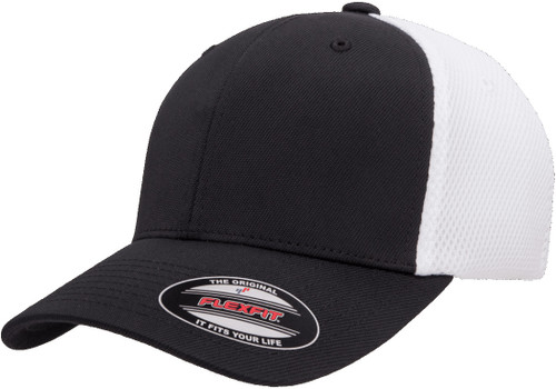 Flexfit Ultrafibre Airmesh Cap - 2 Tone Black White