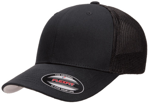 Flexfit Trucker Mesh Cap - Black