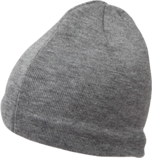 1525CM Blank Flexfit Beanie Cool Max Knit Cap - Heather Grey