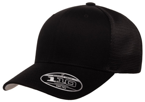 110M Flexfit One Ten Mesh Snapback -Black