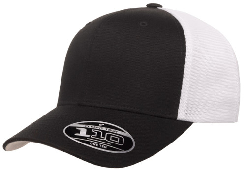 110MT Flexfit One Ten Mesh Snapback 2-Tone-Black/White