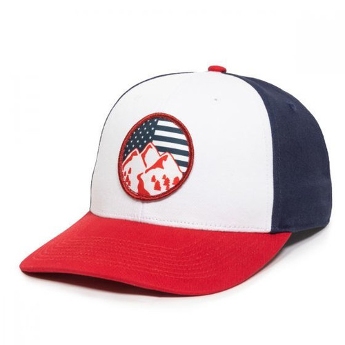 Outdoor Cap Trucker OC871-White/Navy/Red