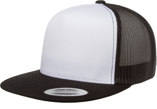 Classic Snapback Trucker With White Front - Black/White/Black