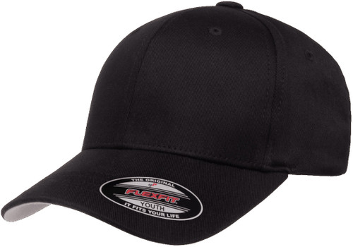 Flexfit Wooly Combed Cap Youth -  Black