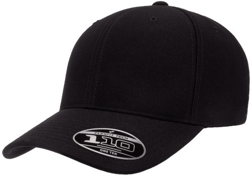 Flexfit 110 Cool Dry Mini Pique Cap - Black