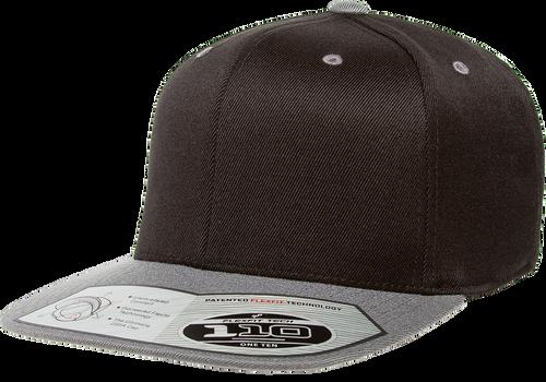 Flexfit 110 Premium Snapback Cap - 2 Tone Black Grey