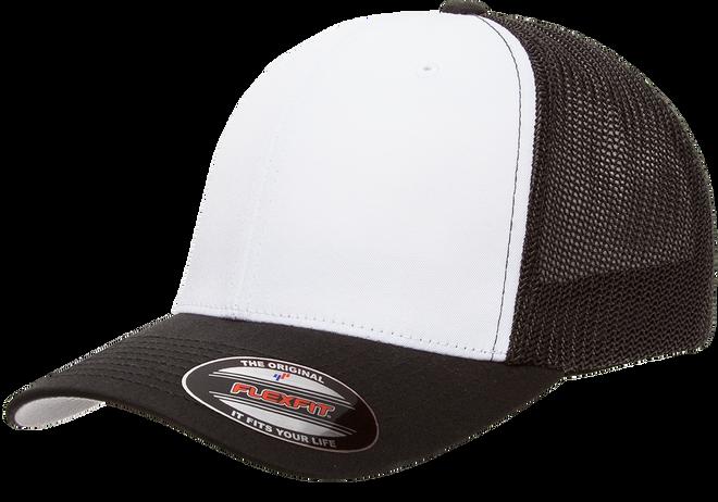 6511W Blank Flexfit Hat Mesh Cotton Twill Trucker Cap