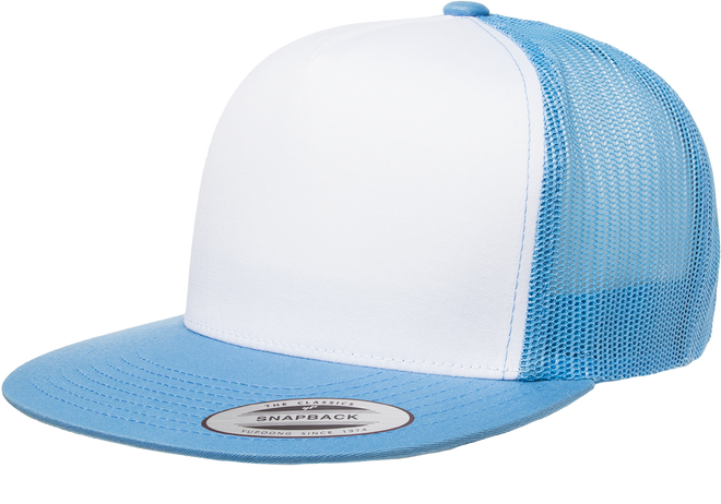 6006W Classic Snapback Trucker With White Front - The Hat Pros 05a1a29936b9
