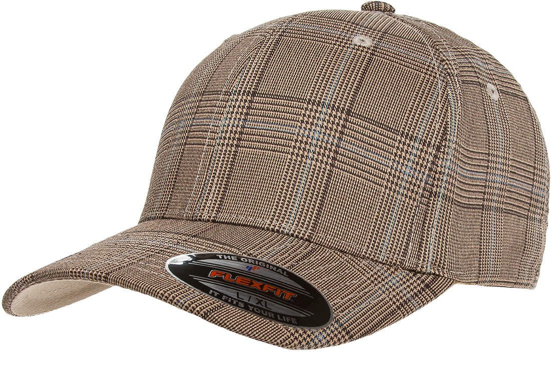 df401689713aa Flexfit Glen Check Cap - Wholesale Discount Flex Fit Hats