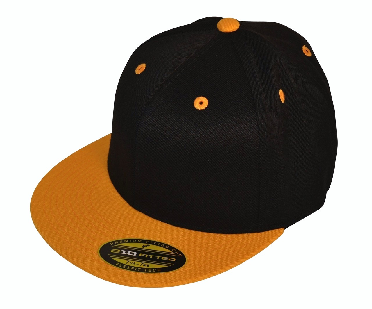 *Limited Edition* Black Gold Blank Flexfit Hat Premium Fitted 210 Cap