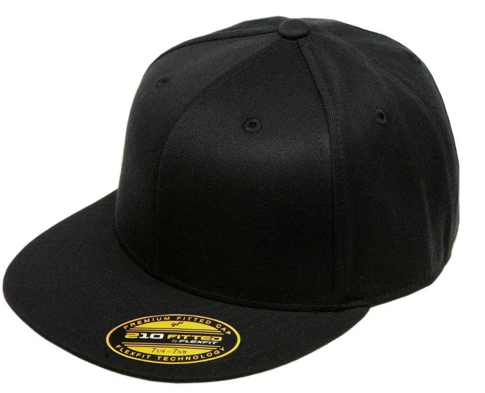 6210XX Blank Flexfit Hat Premium Fitted Extra Large 210 Cap - Black ... d1427543f4e0