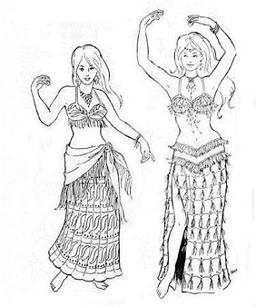 Belly Dance Pattern #16 - Khariya's Skirts by Atira