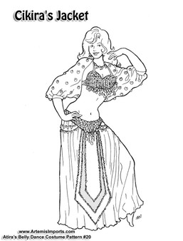 Belly Dance Pattern #20 - Cikira's Jacket by Atira (Atira-20)