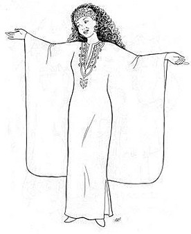 Belly Dance Pattern #25 - Phaedra's Egyptian Caftan by Atira