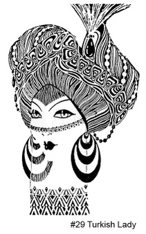 Rubber Stamp ~ Turkish Lady