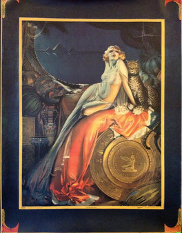 """Poster ~ """"Cleopatra"""" 1925, Art Deco ~ Belly Dance"""