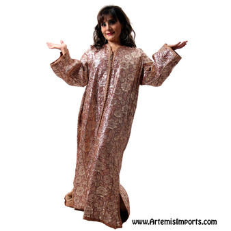 Vintage Caftan Gold and Burgundy
