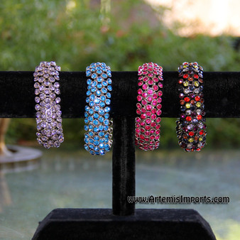 Belly Dance Stretch Rhinestone Bracelets - All Colors