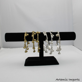 Belly Dance / Tribal Bangle Bracelet With Bells - Gold or Silver