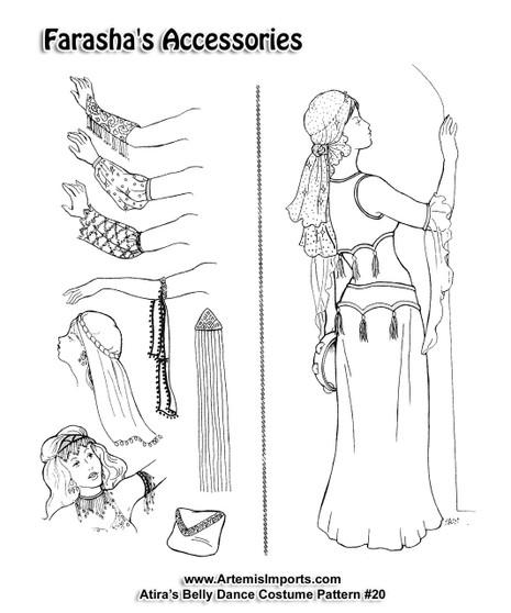 Belly Dance Pattern #18 - Farasha's Accessories by Atira (Atira-18)