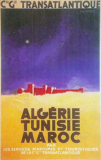 "Algerie, Tunis, Maroc"" 19"" x 27"" $26"