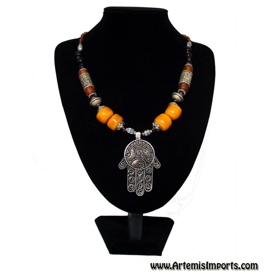 Berber Necklace With Hand of Fatima